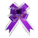 ПН Бант бабочка №5см 1020431 Перламутровая полоса цвет малин. органза,