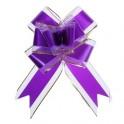 ПН Бант бабочка №7см 1020431 Золотая полоса цвет фиолет. органза,пласт