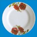 Тарелка мелкая 175мм Красные маки