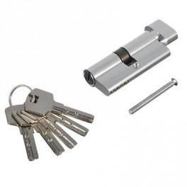 Замочная вставка 5 ключа 70мм проф.кл-завер хром 610-049 35*35