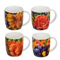 Кружка 350мл Любимые цветы 4 дизайна 806-264