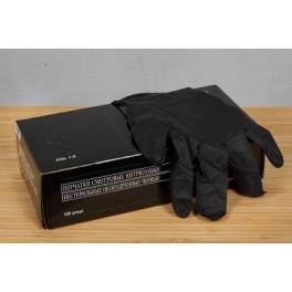 Перчатки нитрил.неопудр. L черные Lab0911 Intco