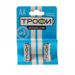 Батарейка Трофи алкал. R-6-2BL 2шт. 619175 пальч.