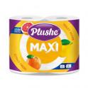 Бумага туалетная Plushe 2-сл 4шт. по 45м белый с прокрасом аромат.Maxi